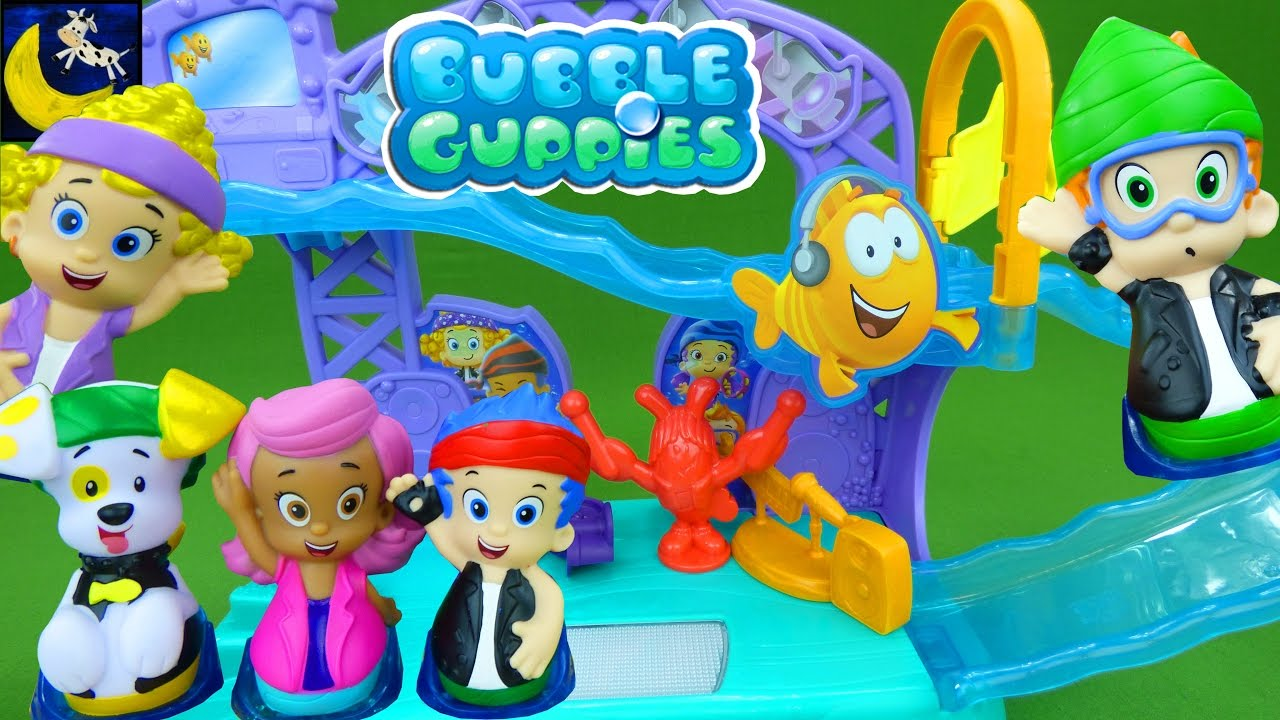 Bubble Guppies Toys Rock and Roll Singing Stage UK with Molly Gil Nonny  Deema and Bubble Puppy Toys!