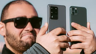 iPhone 11 Pro Max vs Samsung S20 Ultra    تفاصيل التفاصيل !!