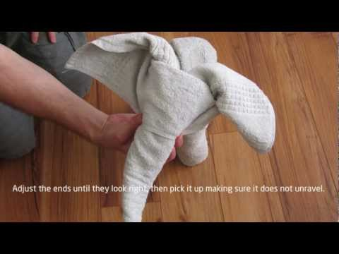 how to make a towel swan video