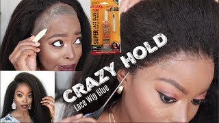 This CRAZY HOLD Lace Glue has my Edges SNATCHED Start to Finish Detailed Natural Lace Wig Install