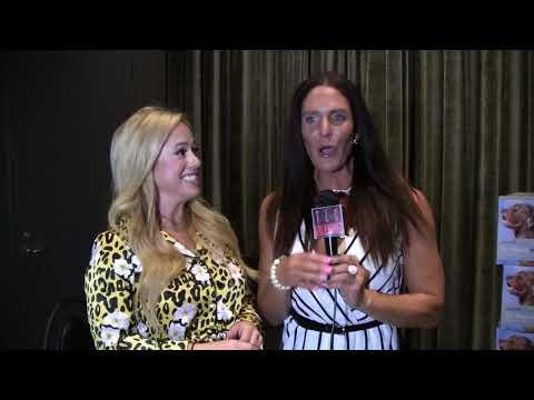 Traci Lynn Cowan with Sabrina Bryan at Celebrity Connected.