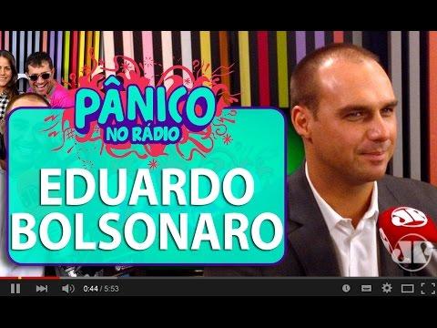 Filho de Jair Bolsonaro confirma candidatura à presidência do pai   Pânico