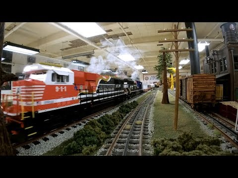 Model Train Layout- CSX, AMTRAK, Santa Fe, Norfolk Southern, Southern Pacific, Burlington, Speeders