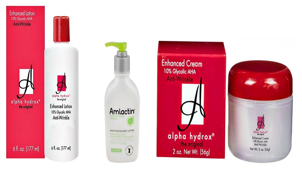 Alpha hydrox facial treatment