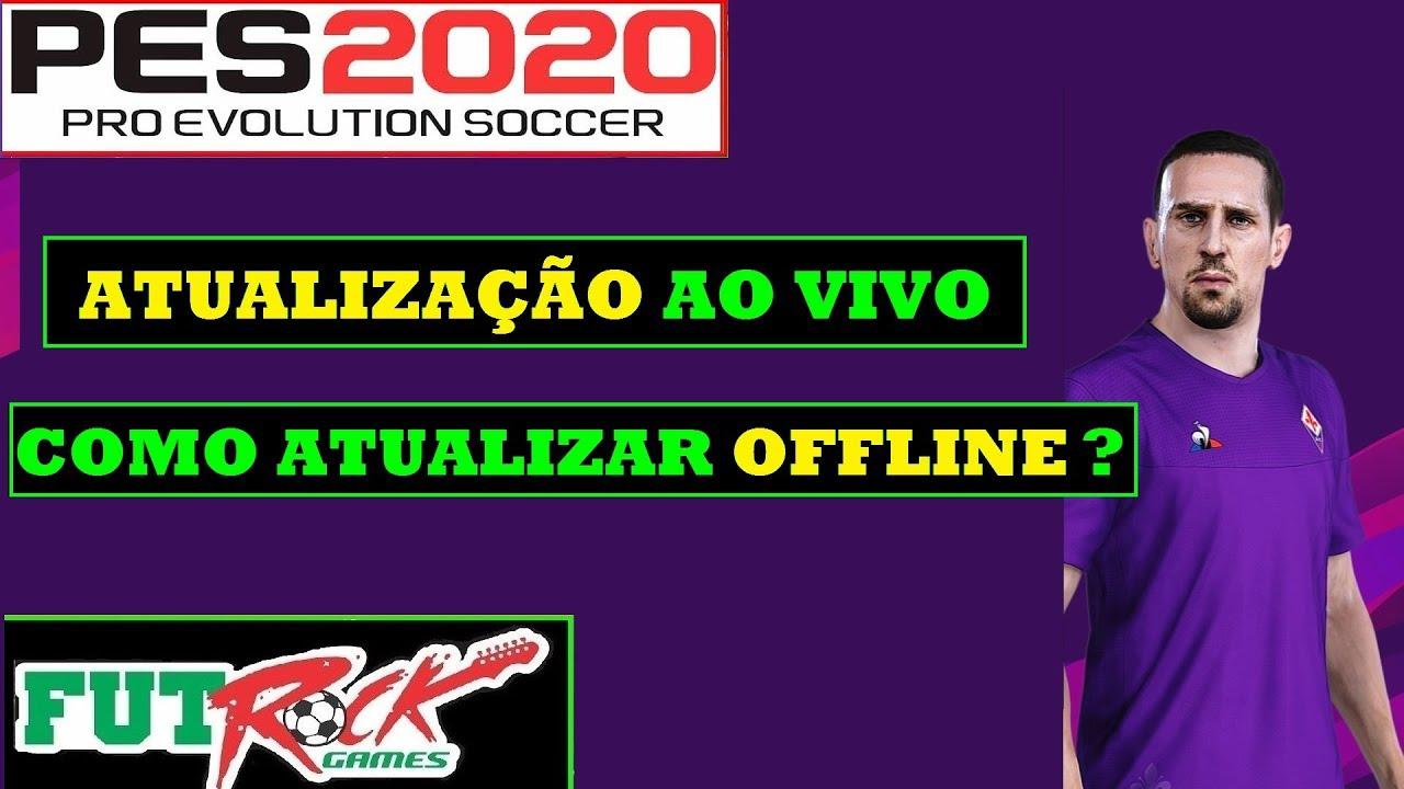 PES 2020 - COMO APLICAR A ATUALIZAÇÃO AO VIVO E ATUALIZAR ELENCOS OFFLINE