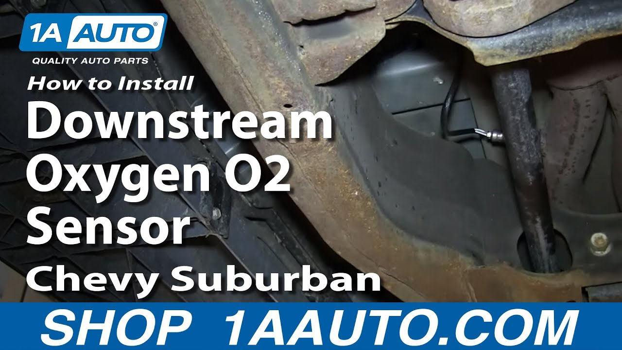 small resolution of how to install replace downstream oxygen o2 sensor 2000 06 chevy suburban youtube