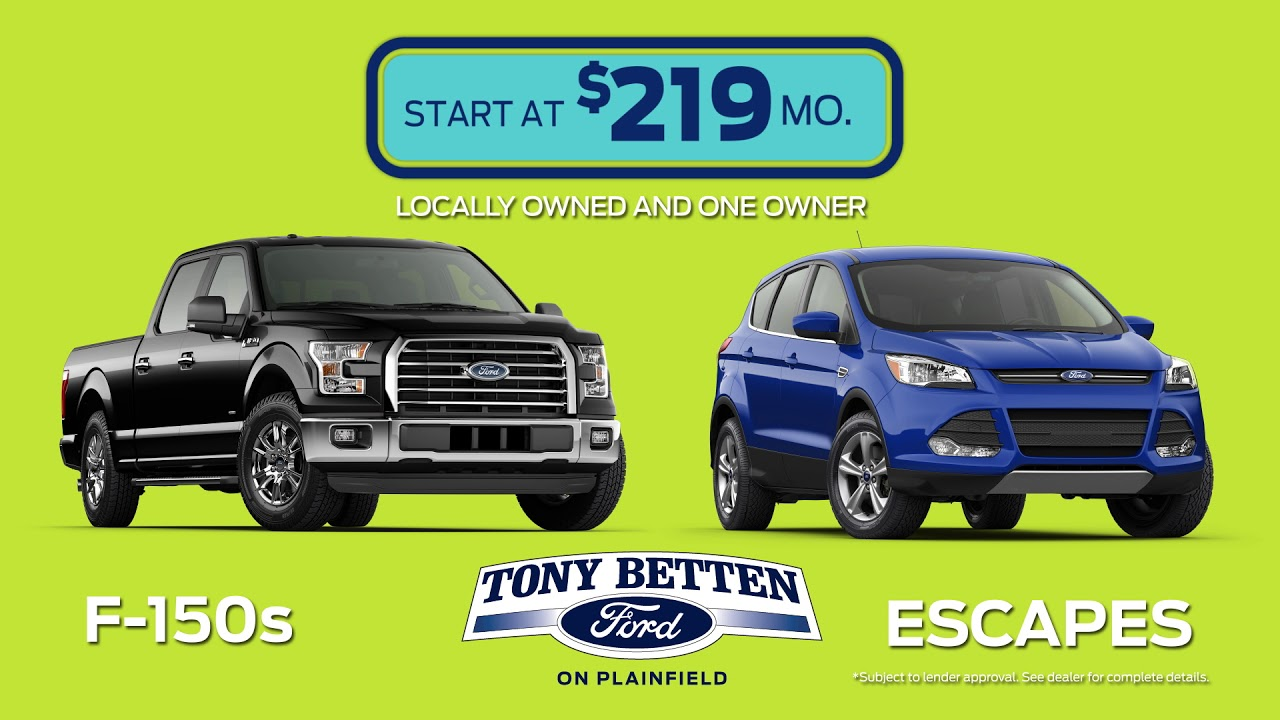 Mive Used Car Clearance Event September 30 Second Commercial Tony Betten Ford