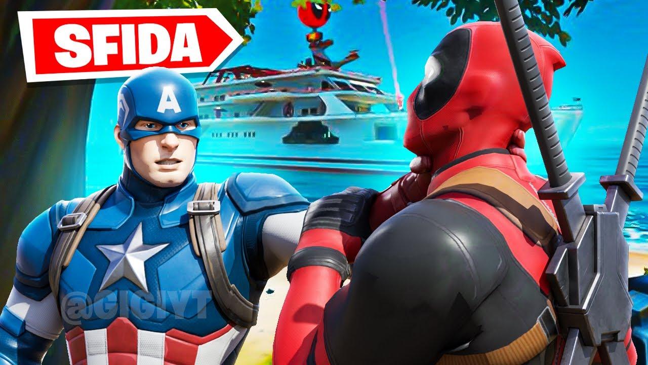 COSA SUCCEDE se Captain America INCONTRA Deadpool? *SFIDA* Fortnite ITA!