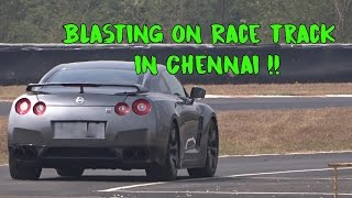 Nissan GTR with Kreissieg Exhaust on Chennai Race Track in India | #118