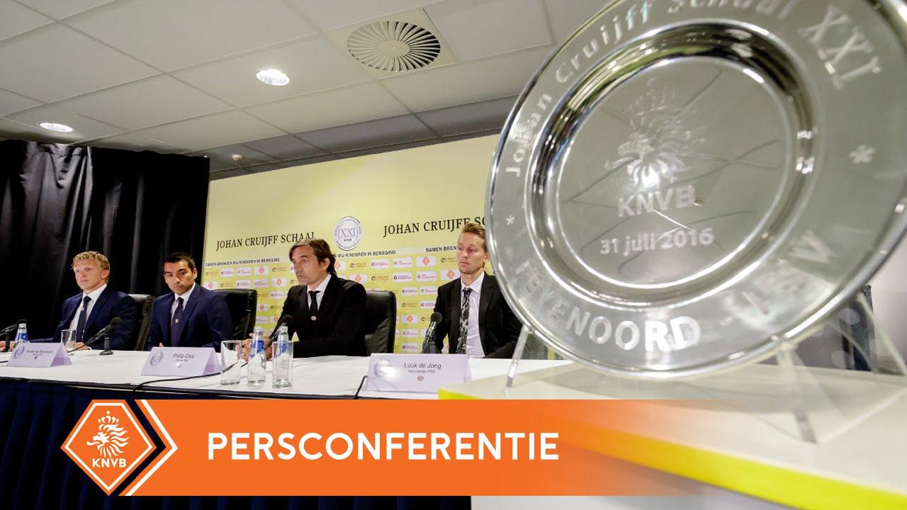 Persconferentie Johan Cruijff Schaal