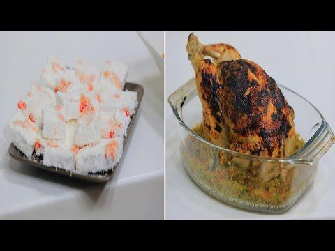 دجاجة محشية فريك - قشطية - خبز سن - كشري بطاطس : على قد الأيد حلقة كاملة