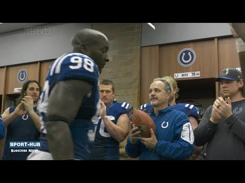 Colts Vet Robert Mathis Gives Chuck Pagano Game Ball After Possible Last Game