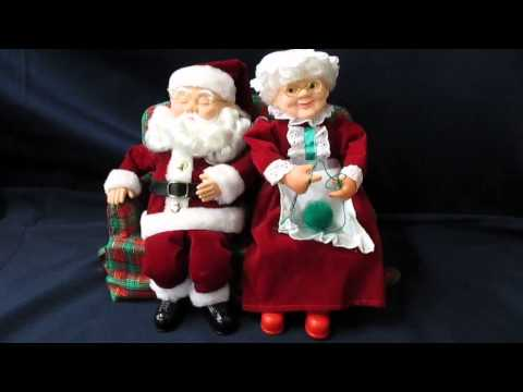 Animated Santa & Mrs. Claus @ gronlineauction.com
