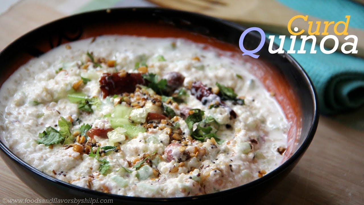 Curd quinoa indian style quinoa recipe vegetarian lunch for Quinoa recipes indian