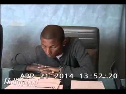 Pharrell Williams Burred Line Testimony