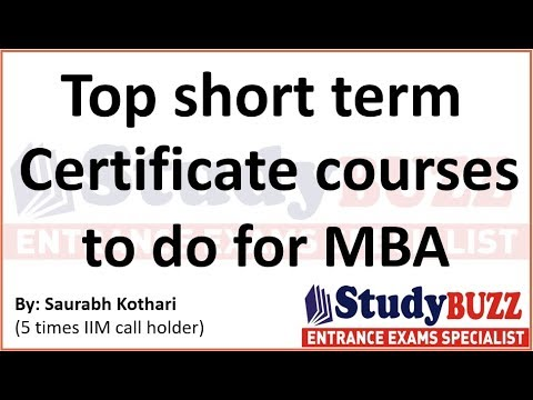 Top certificate courses in Marketing, HR, Finance & Analytics | Free certificate courses for MBA