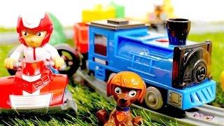 🚄 Trenes para niños - Ryder y la Patrulla Canina - Paw Patrol juegos - Vídeos  de juguetes