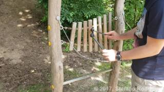 Making Music on Wooden Xylophone on the Playground