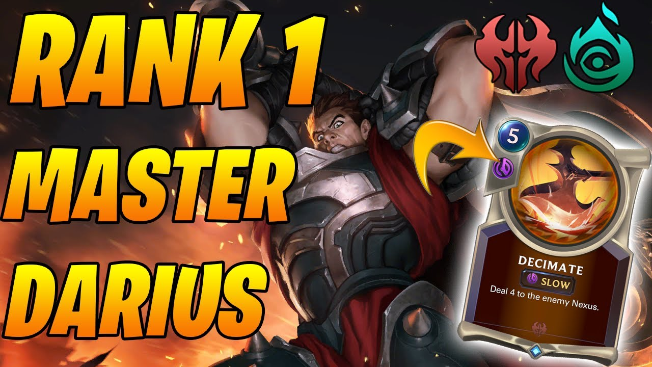 Rank 1 Master's Darius Harrowing Deck! | Legends of Runeterra | Controltheboard