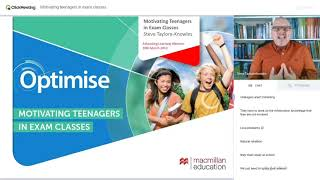 Webinar  Motivating teenagers in exam classes Advancing Learning Webinar with Steve Taylor Knowles