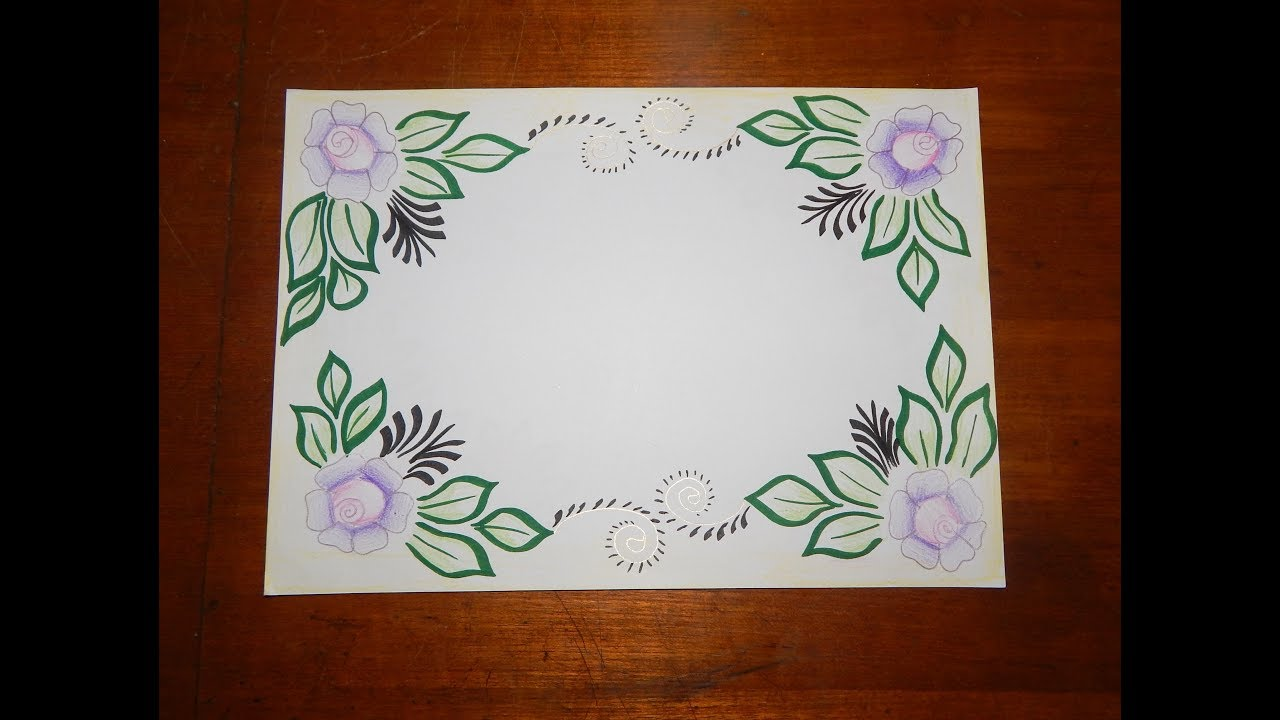 DIY || Simple, Easy & Decorative Border Design For Project ...