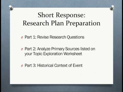 Secondary Sources And The Research Plan Cc - Youtube