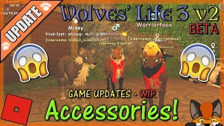 Roblox - Wolves' Life 3 v2 BETA - ACCESSORIES! #19 - HD