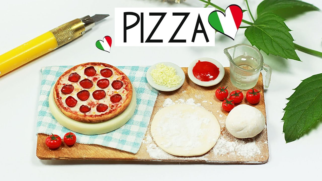 polymer clay Pizza Baking Scene TUTORIAL | polymer clay ...