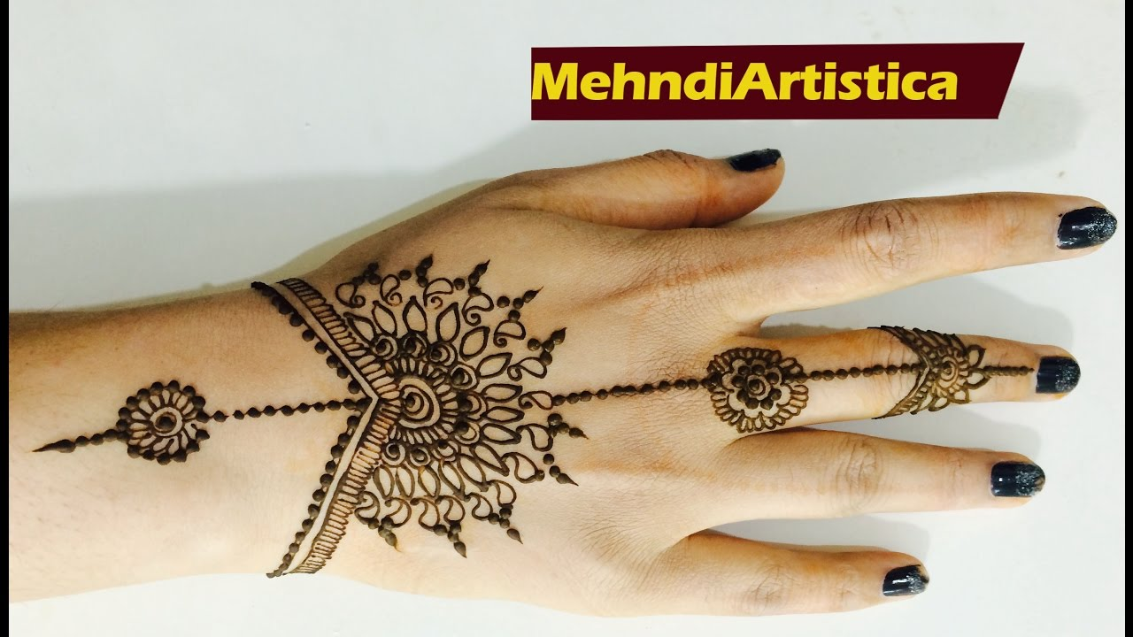 Apply Mehndi On Hands Within 2 Mints Easy Simple Beginners Henna