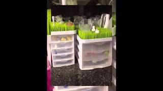 Breast Pump Organization Using Boon Grass Drying Racks