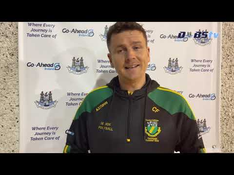 Thomas Davis manager Ciaran Farrelly speaks to DubsTV following win over Skerries Harps