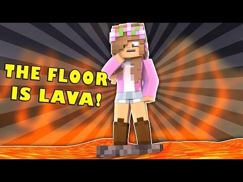 THE FLOOR IS LAVA! Minecraft Little Kelly