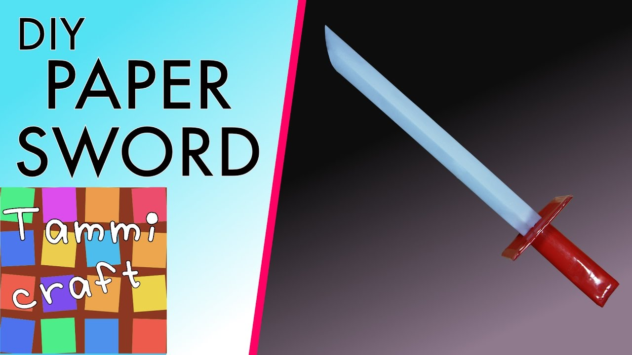 how to make a paper pirate sword prop diy for kids youtube