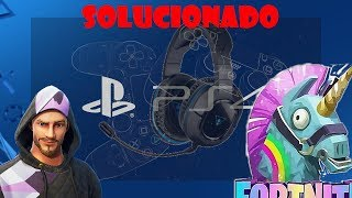 CÓMO *SOLUCIONAR* ERROR DEL CHAT DE VOZ EN FORTNITE (PS4)