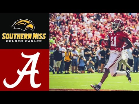 Southern Miss vs #2 Alabama Highlights | NCAAF Week 4 | College Football Highlights