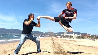 Ginger Ninja Trickster Fights Jake Mace - Awesome!