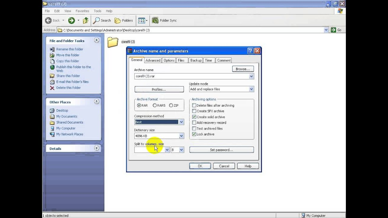 How to highly compress files using winrar
