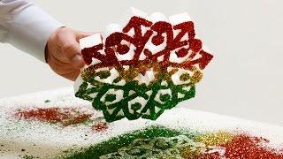 Styrofoam Snowflakes Glitter Project