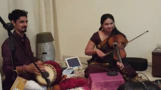 Raghuvamsa Sudha and Kurai Ondrum by Padma Shankar from casual concert @ Dubai