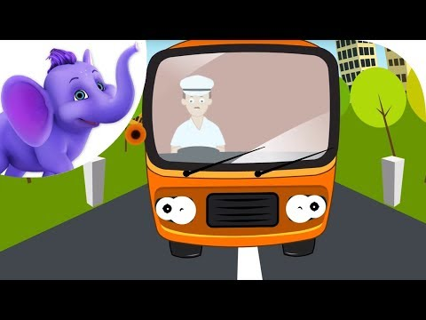 The Wheels on the Bus - Nursery Rhyme with Karaoke