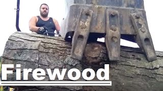 Diy Fast And Easy Firewood Processing With Help From 4x4 Yanmar Tractor Sc2450