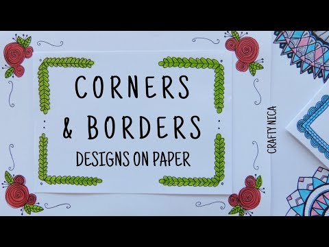 CORNER DESIGNS FOR PROJECTS ❤ BORDER DESIGNS ON PAPER  ❤ PROJECT FILE DECORATION IDEAS