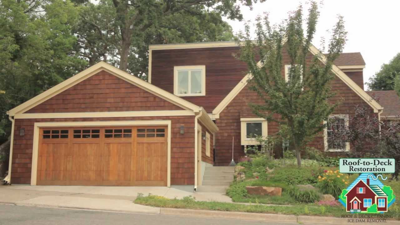Cedar siding cleaning and staining youtube - How to clean house exterior before painting ...