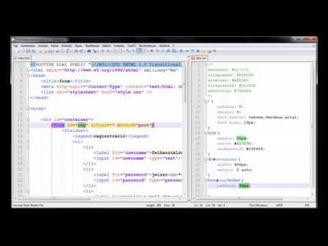 HTML + CSS űrlapformázás