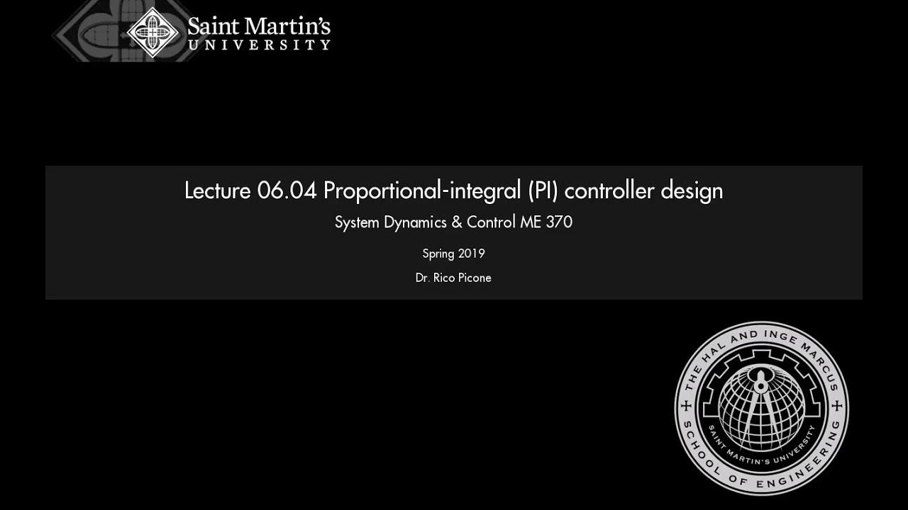 06 04 Proportional-integral (PI) controller design
