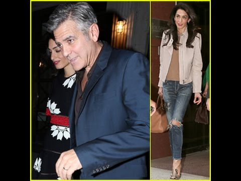 George & Amal Clooney Dine in NYC With Her Family