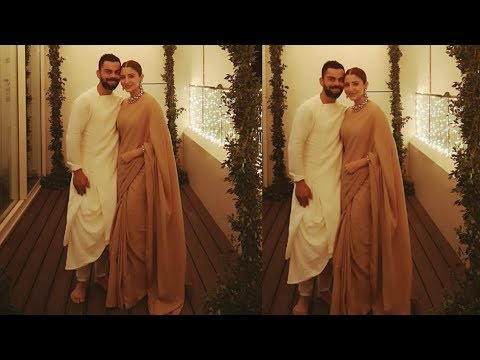 Anushka Sharma and Virat Kohli celebrating 1st Diwali together after marriage
