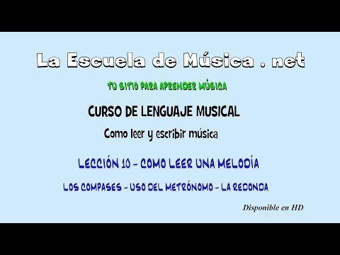 Curso de lenguaje musical - La redonda y uso del metrónomo - Lección 10