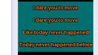 SWITCHFOOT DARE YOU TO MOVE KARAOKE
