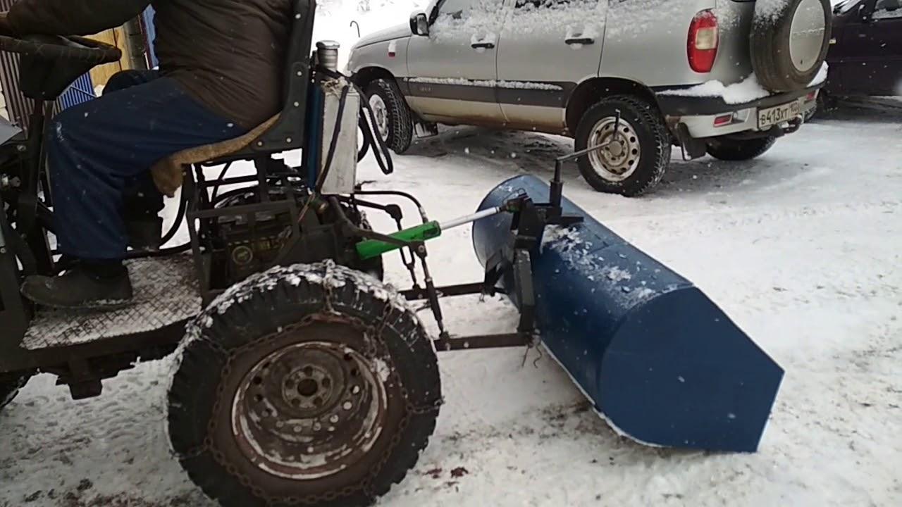 Самодельный полноприводный мини-трактор